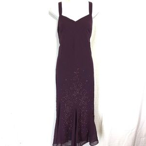 R&M RICHARDS Lined Plum Evening Formal Dress ~ 10